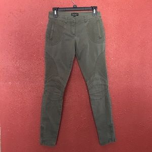 Topshop Olive Green Skinny Jeans Sz 2 VGUC
